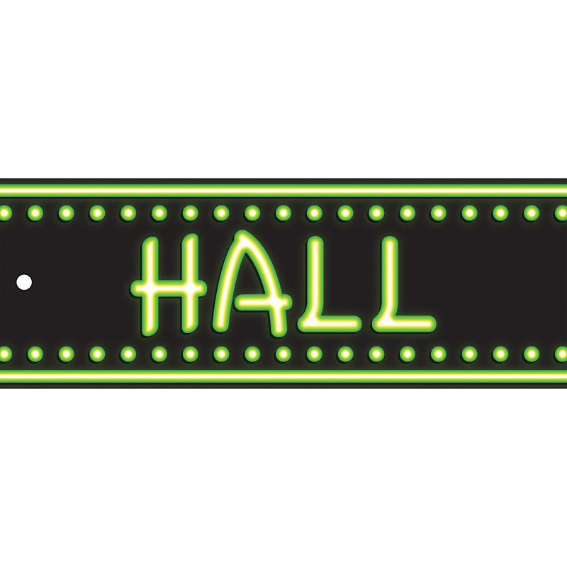 (12 Ea) Laminated Hall Pass Neon  ASH10658BN