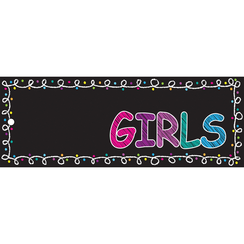 (12 Ea) Hall Pass Chalk Girls Laminated ASH10722BN