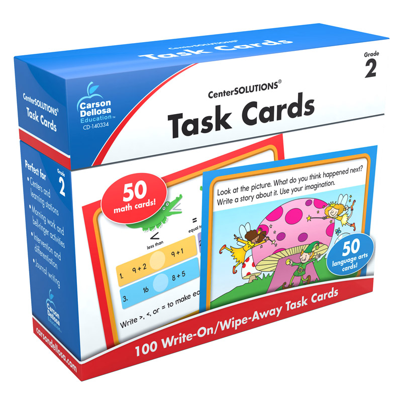 Center Solutions Task Cards Gr 2