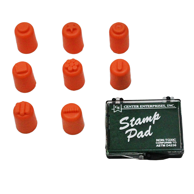 Finger Painters/Stampers Set Of 8 W/ Pad