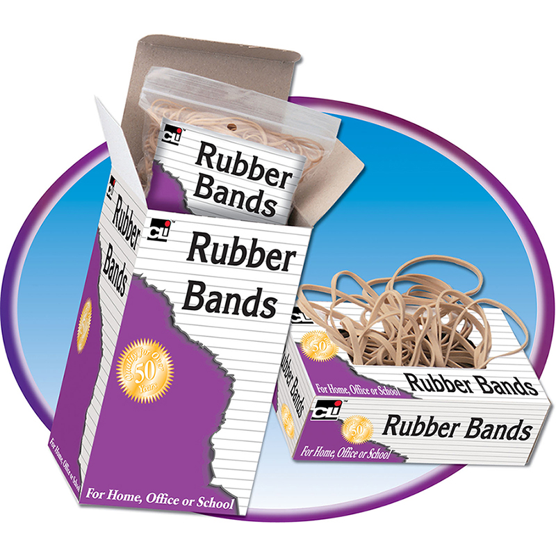 (10 Bx) Rubber Bands Size 64 3.5X.25 1/4Lb Box CHL56164BN