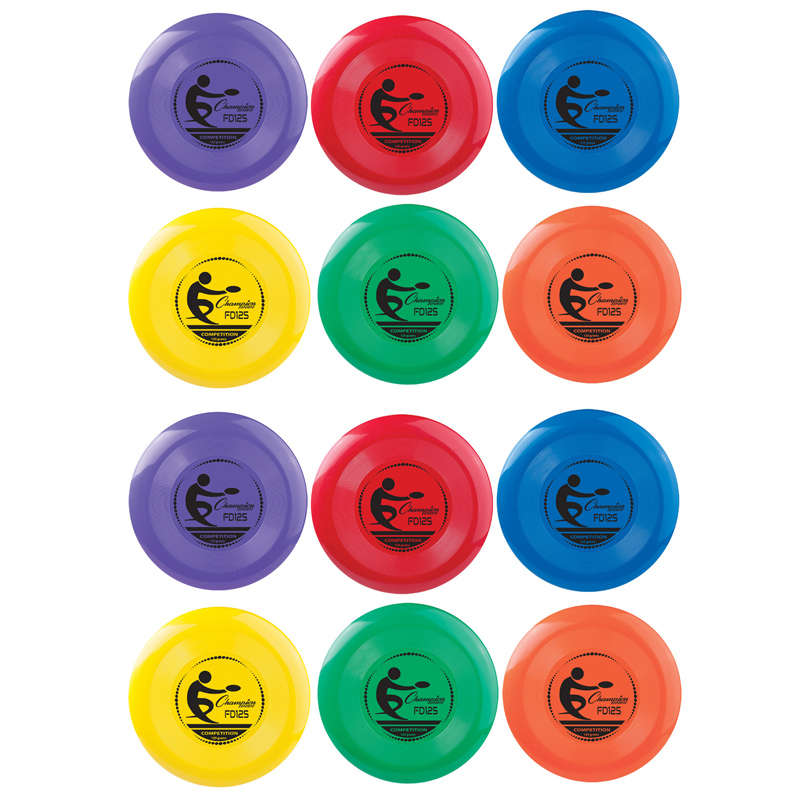 (12 Ea) Plastic Disc Assorted Clrs  CHSFD125BN