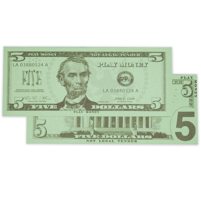 $5 Bills Set 100 Bills  CTU7519