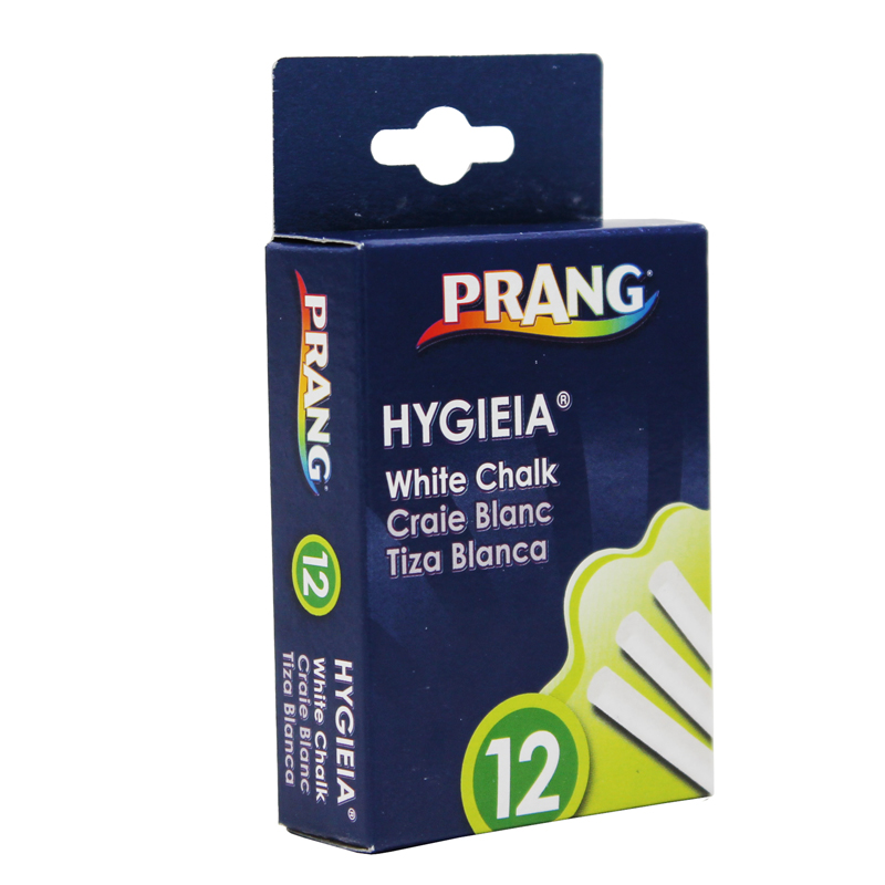 Hygieia Dustless White Chalk 1 Box of 12 Sticks ...