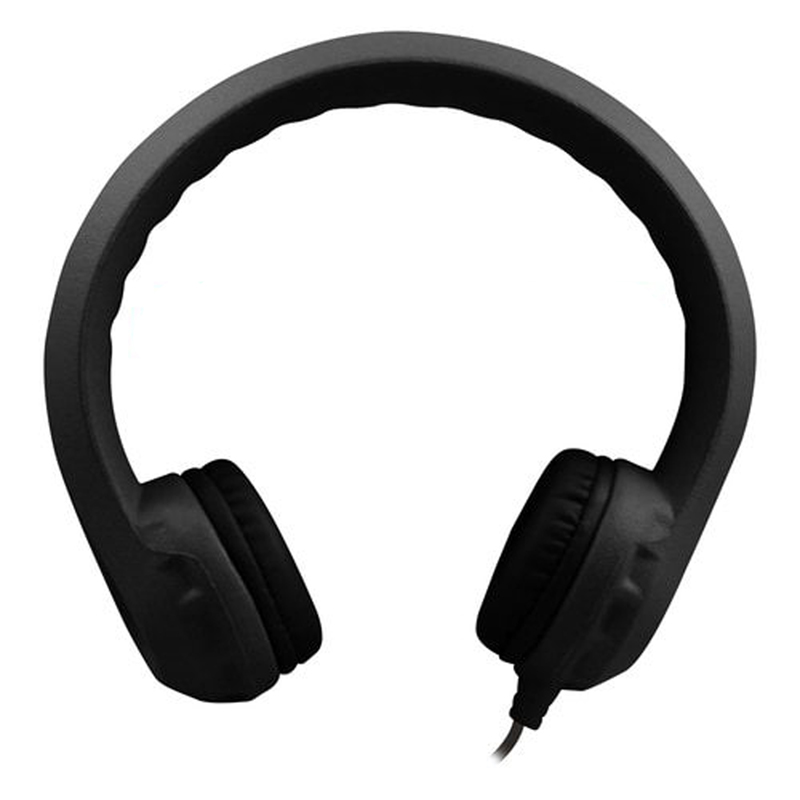 Flex-Phones Indestructible Blk Foam Headphones