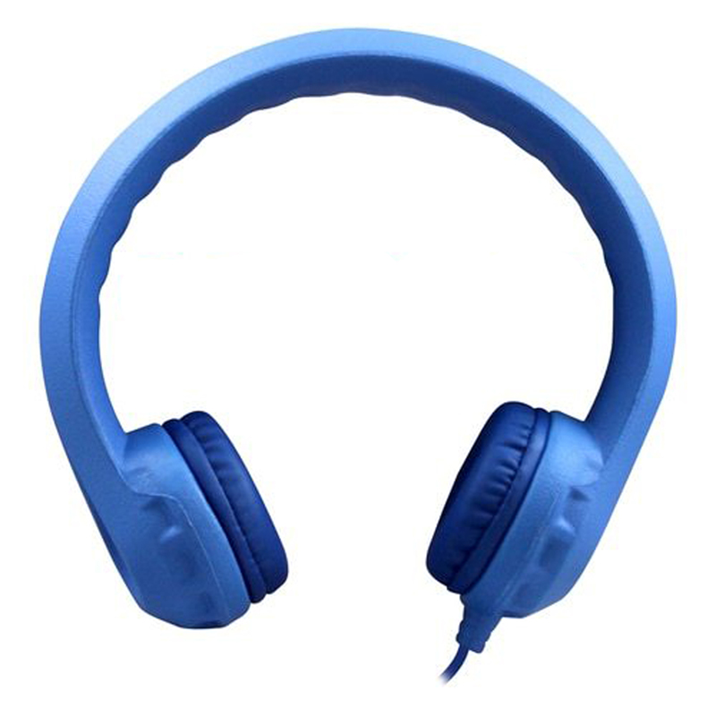 Flex-Phones Indestructible Blu Foam Headphones
