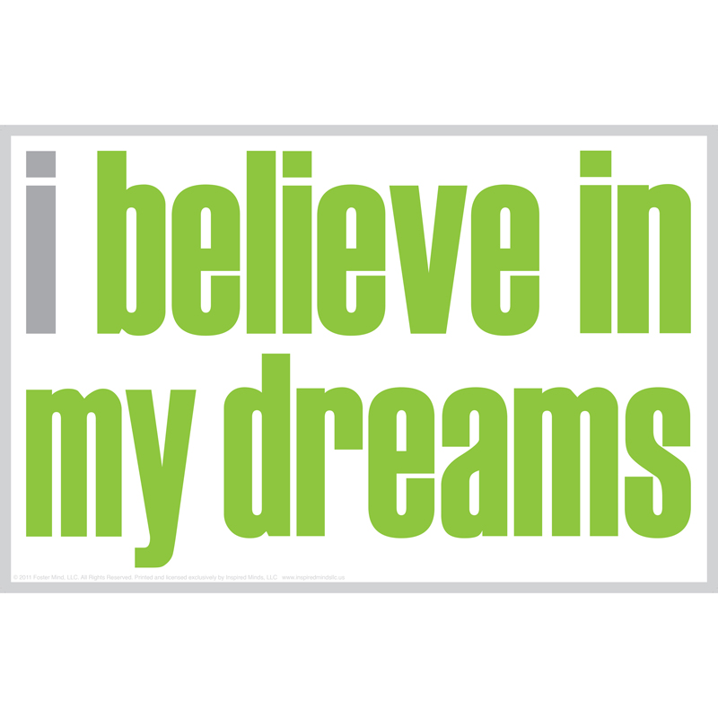 (12 Ea) I Believe In My Dreams Magnet ISM0026MBN