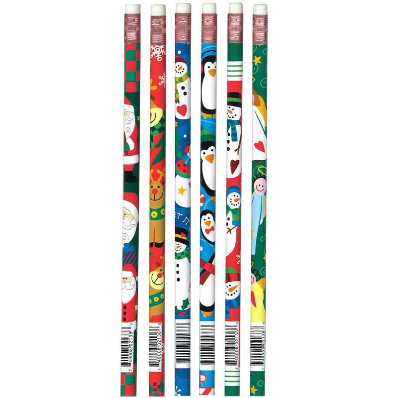 (12 Dz) Pencils Christmas Assorted 12 Per Pk JRM2138BBN
