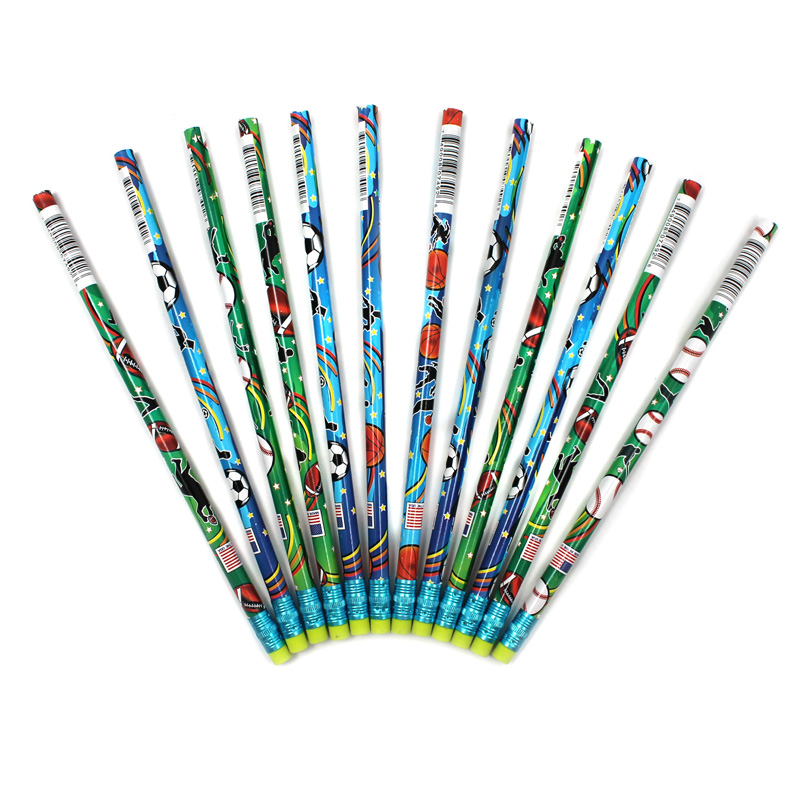 (12 Dz) Decorated Pencils Sports Asst 12 Per Pk JRM7492BBN