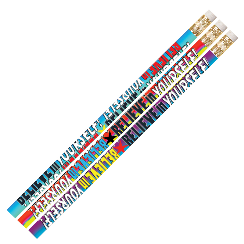 (12 Dz) Believe In Yourself Pencils Assortment 12 Per Pk MUS2283DBN