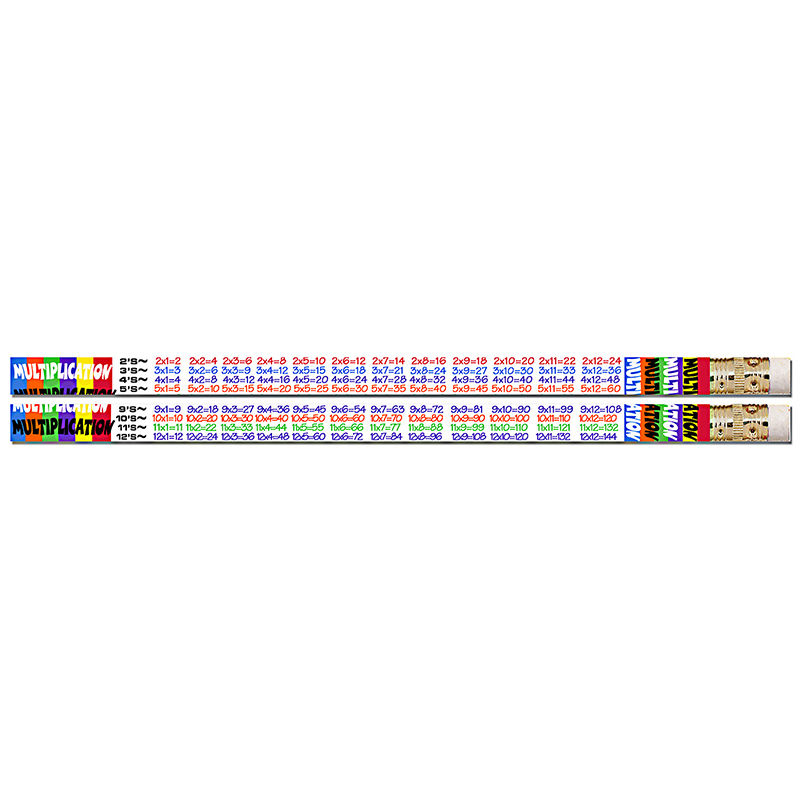 (12 Dz)Multiplication Table Pencils 12 Per Pk MUS2348DBN