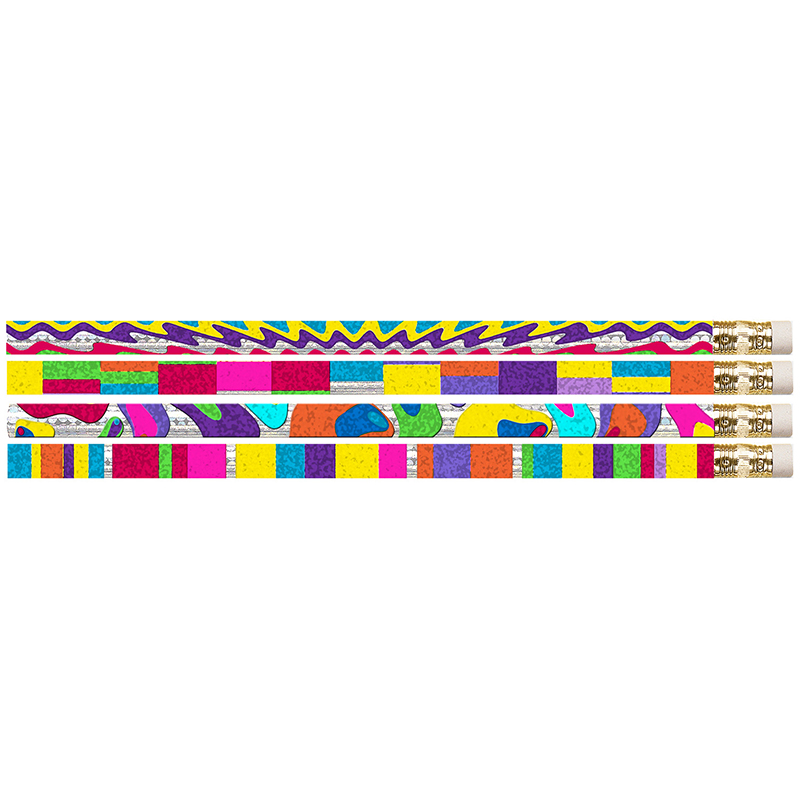 (12 Dz)Watercolors Motivational Fun Pencils 12 Per Pk MUS2396DBN
