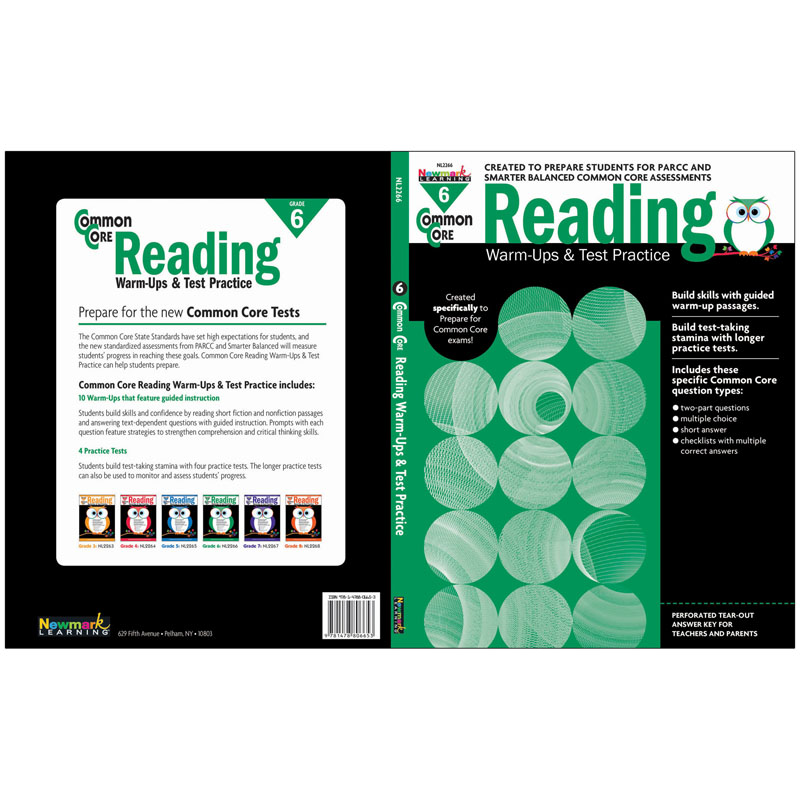 Common Core Reading Gr 6 Warmups & Test Practice - Office