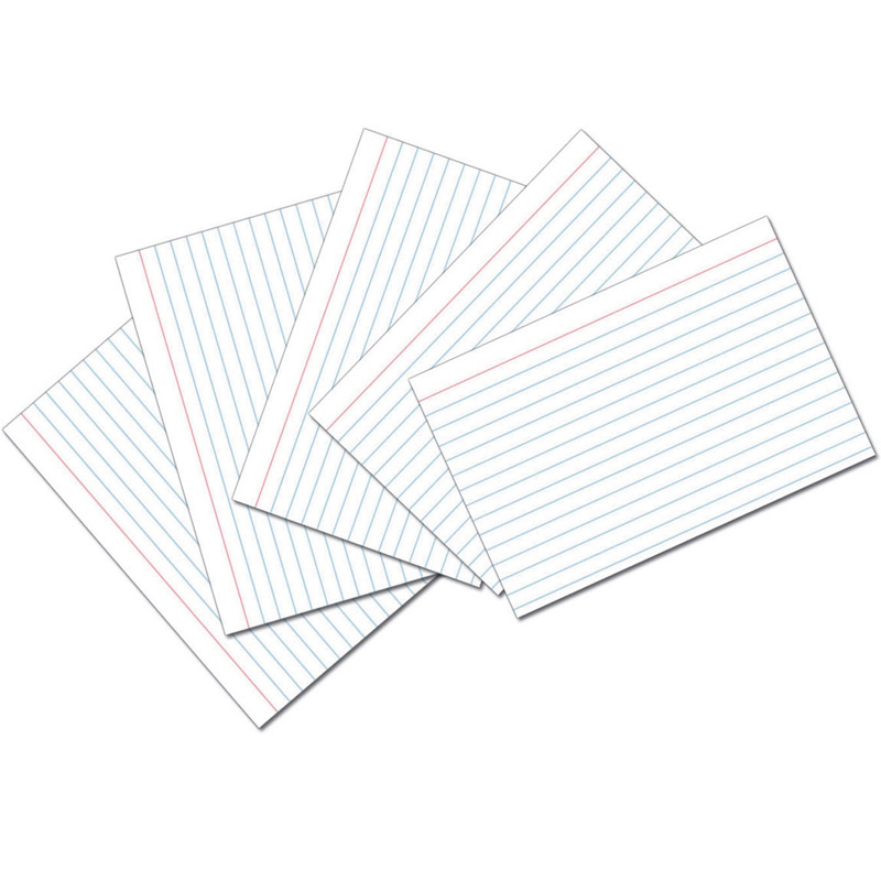 (10 Pk) White 4X6 Ruled Index Cards 100 Per Pk PAC5136BN