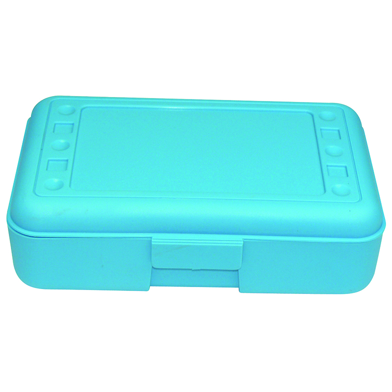 (12 Ea) Pencil Box Turquoise  ROM60208BN