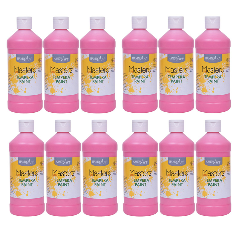 (12 Ea) Tempera Paint Pint Pink Little Masters RPC201722BN