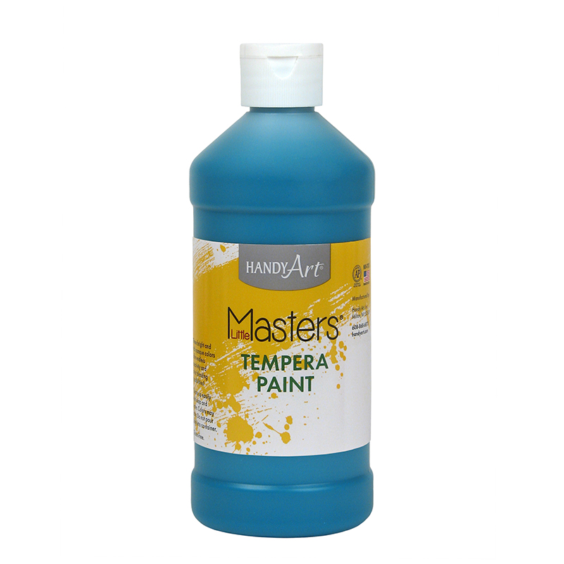 (12 Ea) Little Masters Turquoise 16Oz Tempera Paint RPC201735BN