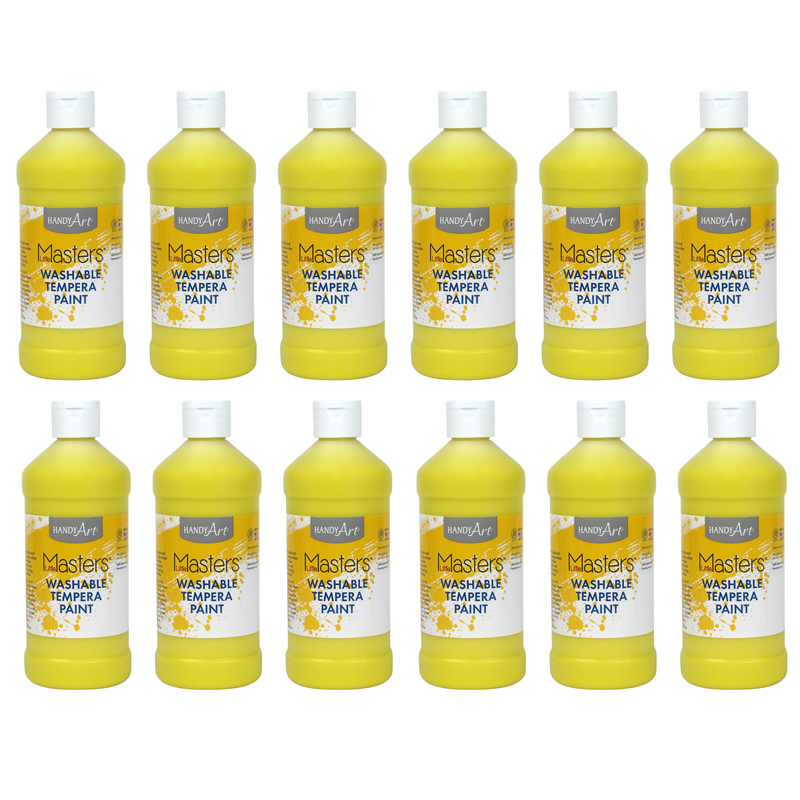 (12 Ea) Little Masters Yellow 16Oz Washable Paint RPC211710BN