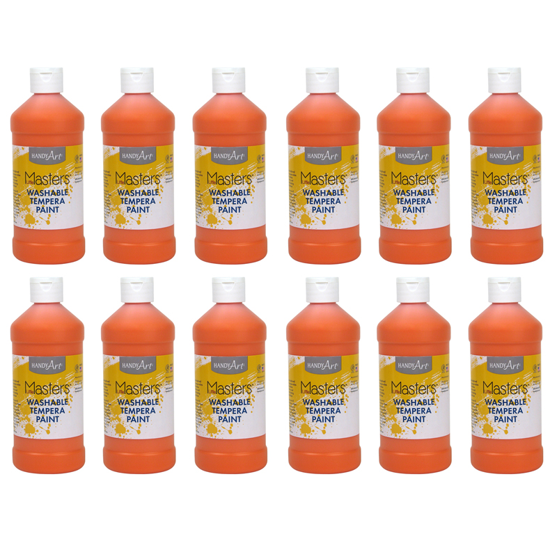 (12 Ea) Little Masters Orange 16Oz Washable Paint RPC211715BN