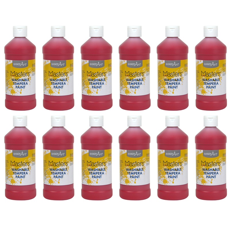 (12 Ea) Little Masters Red 16Oz Washable Paint RPC211720BN