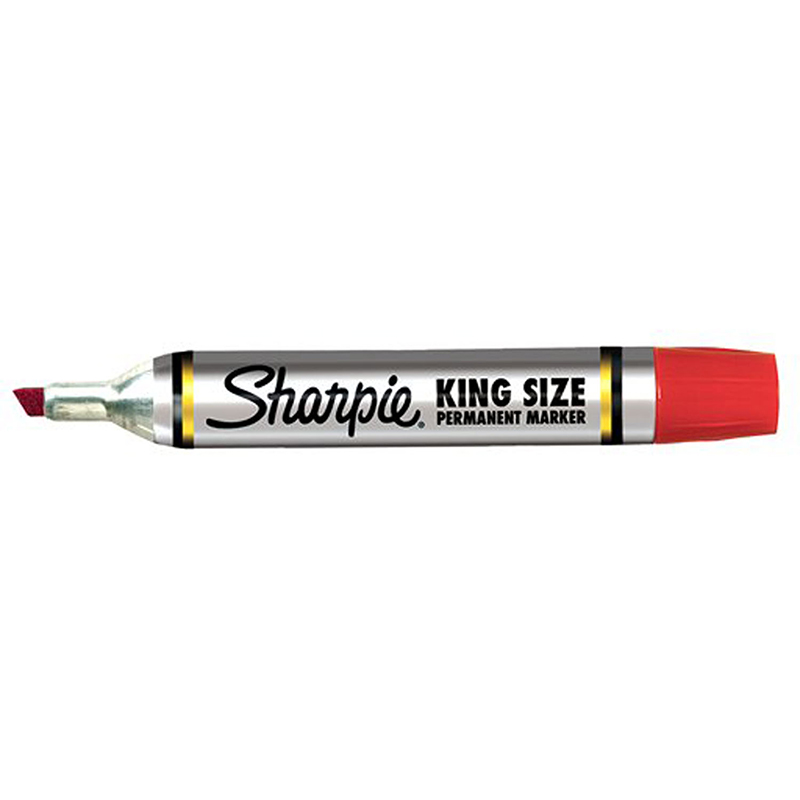 (12 Ea) Sharpie King Size Permanent Marker Red SAN15002BN