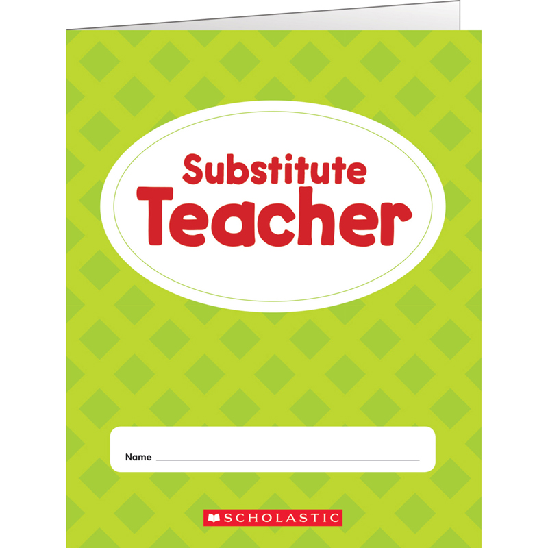 (12 Ea) Substitute Teacher Folder  SC-823677BN