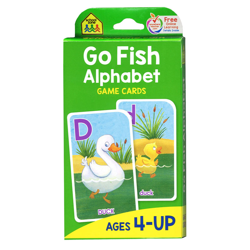 Go fish game cards office church school supply co inc for Fish card game