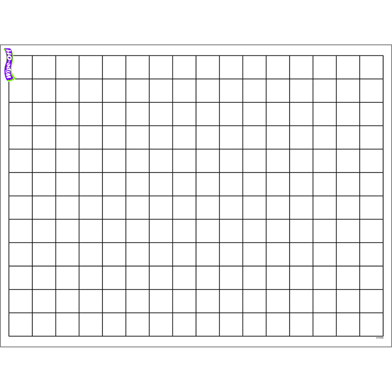 (12 Ea) Graphing Grid Small Squares Wipe Off Chart 17X22 T-27305BN