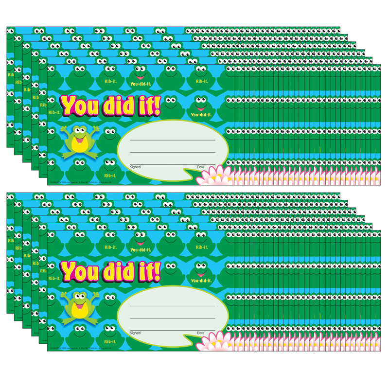 (12 Pk) Awards You Did It Frogs 30 Per Pk T-81034BN