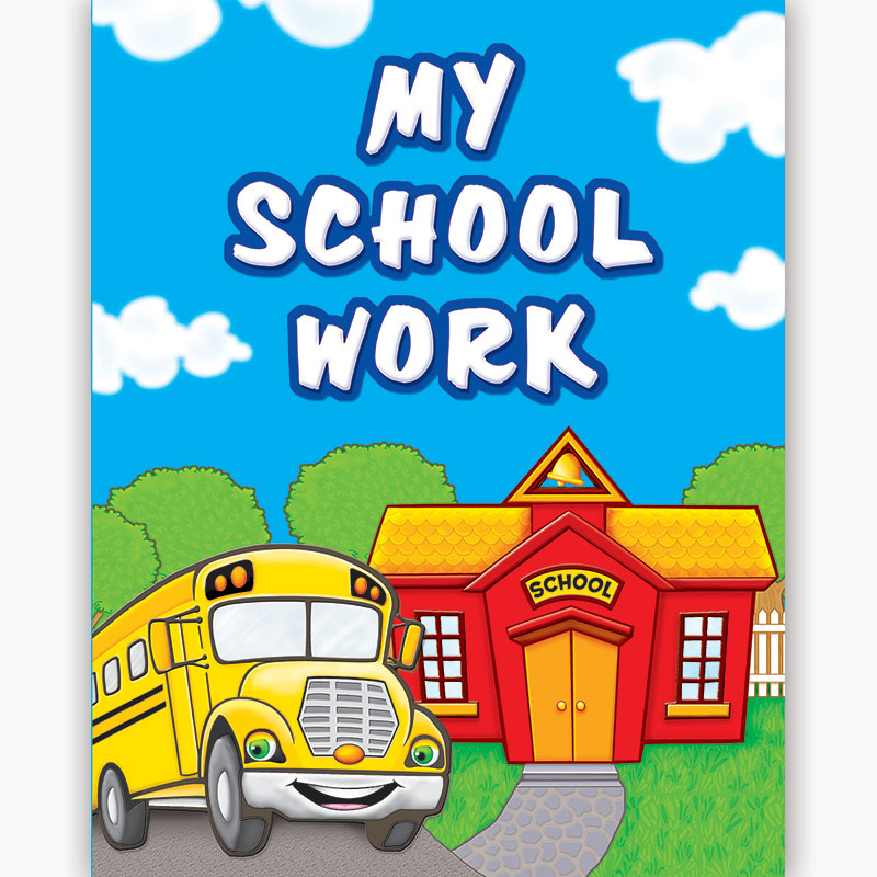 (10 Ea) My School Work Pocket Folder TCR4939BN