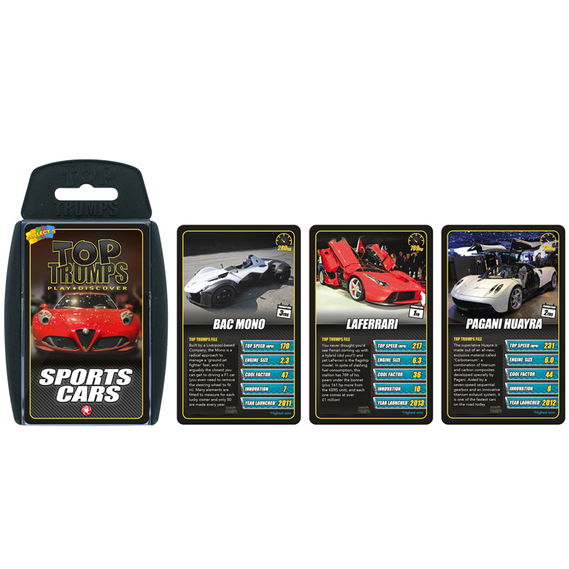 Top Trumps Rules >> Sports Cars Top Trumps Card Game The Knowledge Tree